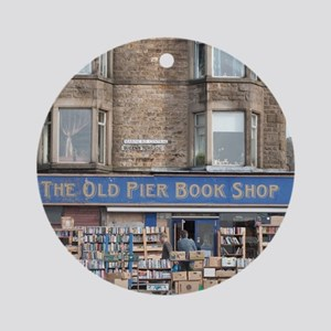 Exterior of the Old Pier Bookshop Round Ornament