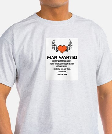 Man Wanted T-Shirt