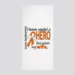 Leukemia Heaven Needed Hero Beach Towel