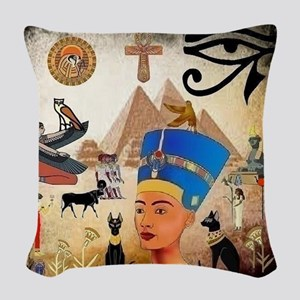 Egyptian Woven Throw Pillow