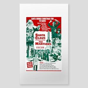 Santa Conquers The Martians Sticker (Rectangle)