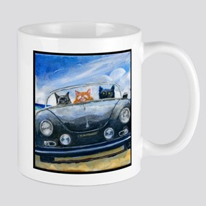 Kibbles Steals A Porsche 11 oz Ceramic Mug