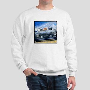 Kibbles Steals A Porsche Sweatshirt