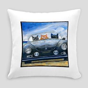 Kibbles Steals A Porsche Everyday Pillow