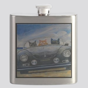 Kibbles Steals A Porsche Flask