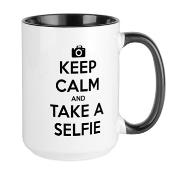 Keep Calm and Take a Selfie Large Mug