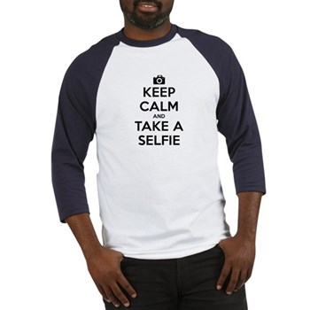 Keep Calm and Take a Selfie Baseball Jersey