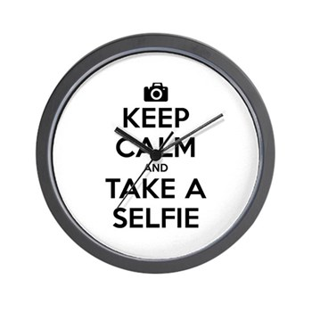 Keep Calm and Take a Selfie Wall Clock