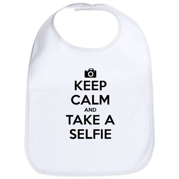 Keep Calm and Take a Selfie Bib