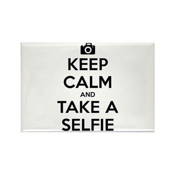 Keep Calm and Take a Selfie Rectangle Magnet
