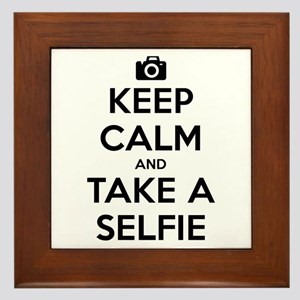 Keep Calm and Take a Selfie Framed Tile