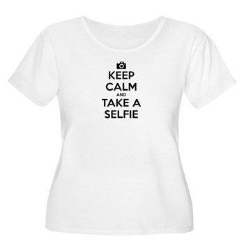 Keep Calm and Take a Selfie Women's Plus Size Scoo