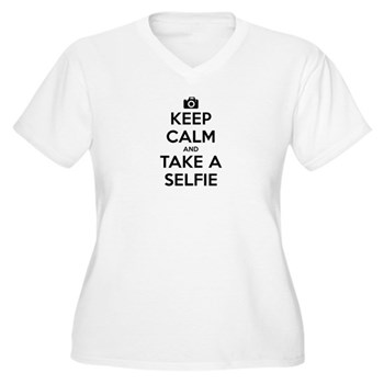 Keep Calm and Take a Selfie Women's Plus Size V-Ne
