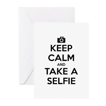 Keep Calm and Take a Selfie Greeting Cards (20 pac