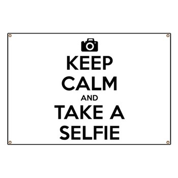 Keep Calm and Take a Selfie Banner