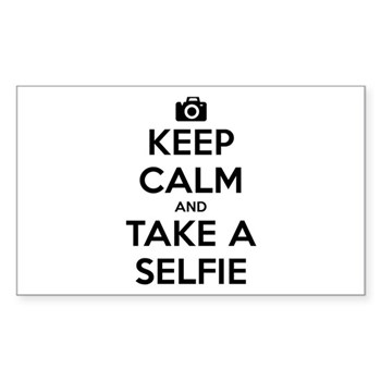 Keep Calm and Take a Selfie Rectangle Sticker (10