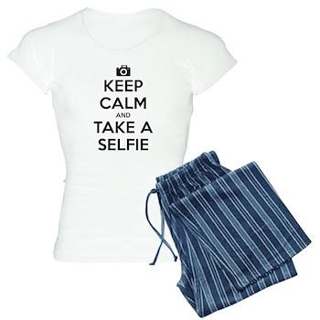 Keep Calm and Take a Selfie Women's Light Pajamas
