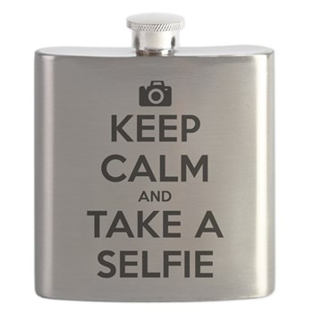 Keep Calm and Take a Selfie Flask