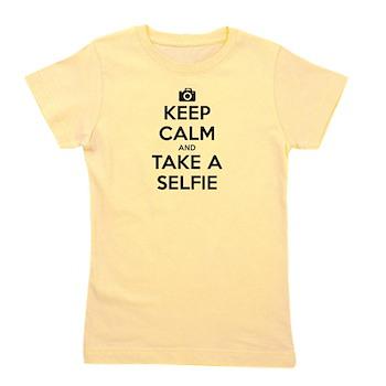 Keep Calm and Take a Selfie Girl's Tee
