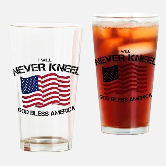 Cute Patriotism Drinking Glass