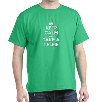 Keep Calm and Take a Selfie Dark T-Shirt