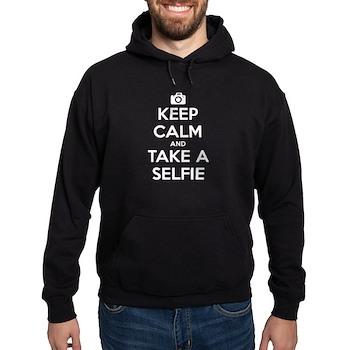 Keep Calm and Take a Selfie Dark Hoodie