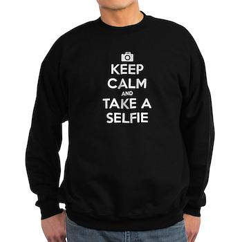 Keep Calm and Take a Selfie Dark Sweatshirt