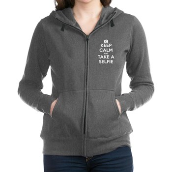 Keep Calm and Take a Selfie Women's Zip Hoodie