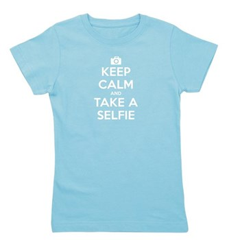 Keep Calm and Take a Selfie Girl's Dark Tee