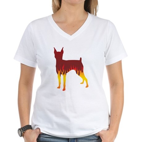 Tenterfield Flames Women's V-Neck T-Shirt
