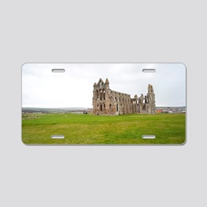 Ruins of Whitbt Abbey Aluminum License Plate