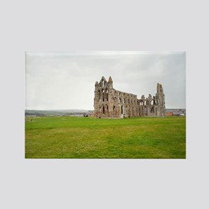 Ruins of Whitbt Abbey Rectangle Magnet
