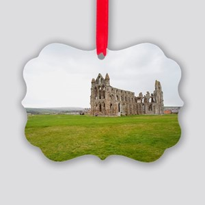 Ruins of Whitbt Abbey Picture Ornament