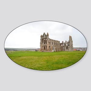 Ruins of Whitbt Abbey Sticker (Oval)