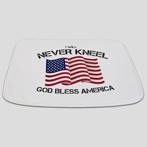 I will never kneel God Bless America Flag Bathmat