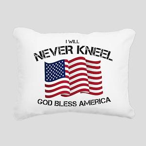 I will never kneel God B Rectangular Canvas Pillow