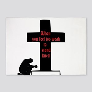 prayer is power 5'x7'Area Rug