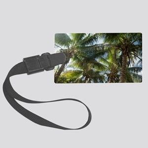 Coconuts and coconut palms Large Luggage Tag