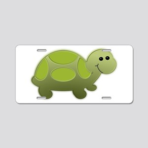 Little Turtle Aluminum License Plate