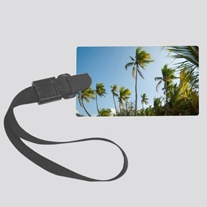 Grove of tall palm trees Large Luggage Tag