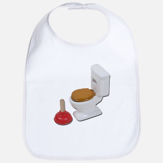 ToiletLargePlunger051411 Baby Bib