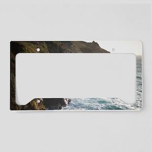 rocky coastline License Plate Holder