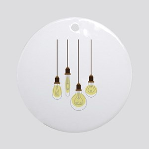 Vintage Light Bulbs Ornament (Round)