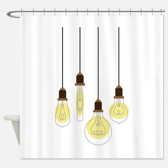 Vintage Light Bulbs Shower Curtain