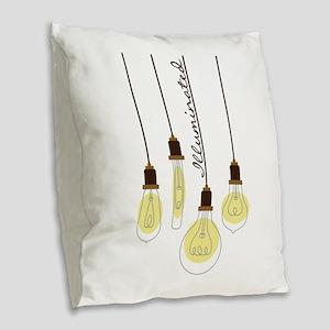 Illuminated Burlap Throw Pillow