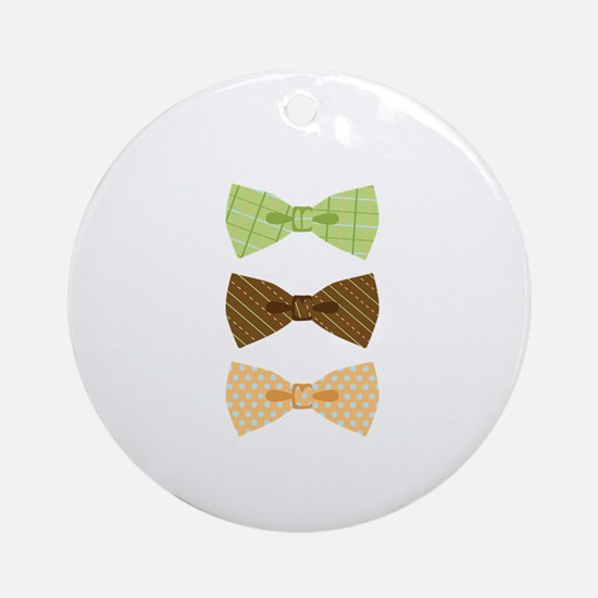Colored Bowtie Clothing Ornament (Round)