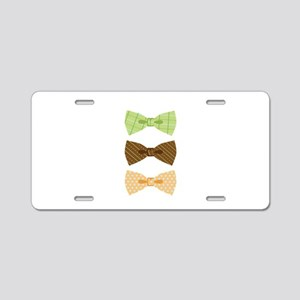 Colored Bowtie Clothing Aluminum License Plate