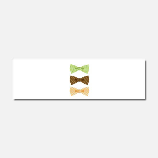 Colored Bowtie Clothing Car Magnet 10 x 3