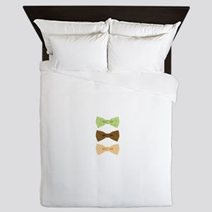 Colored Bowtie Clothing Queen Duvet