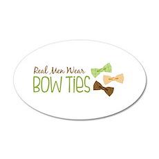 Real Men Wear Bow Ties Wall Sticker